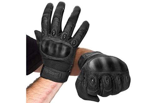 9. FREETOO Knuckle Tactical Gloves for Men