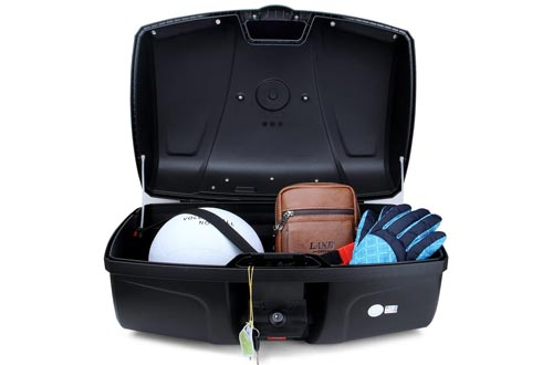 10. AUTOINBOX Universal Motorcycle Trunk with LED Light