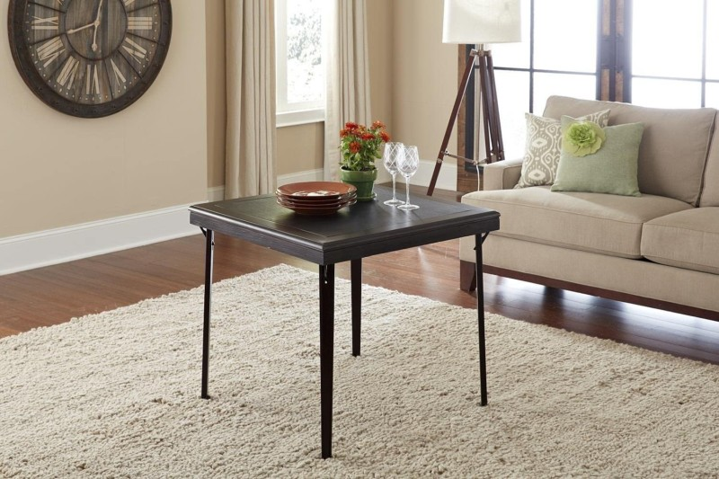 #2. CoscoProducts Folding Square Wood Table