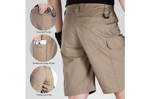 4. FREE SOLDIER Water Resistant Men's Tactical Shorts