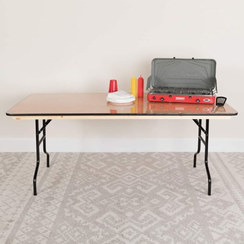 #4. Flash Furniture Large Wood Folding Table
