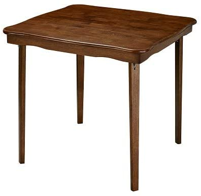 #5. MECO Premium Wood Collapsing Table