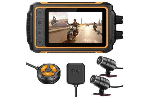 6. ZOMFOM Waterproof Recording Camera for Motorcycle