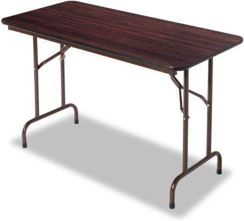 #7. Alera Rectangle Wood Folding Table