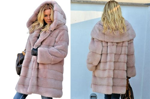 7. Aofur Womens Thick Faux Fur Winter Coat