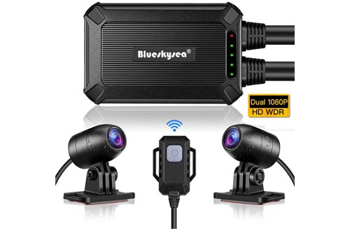 7. Blueskysea Waterproof Front and Rear Motor Drive Recorder