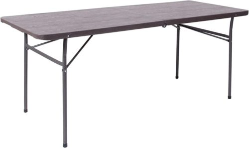 #8. Flash Furniture Wood Folding Table for 8 People