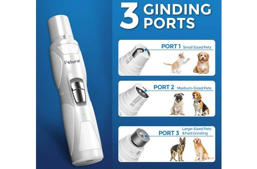 1. Petural Dog Nail Grinder Upgraded 2 Speed
