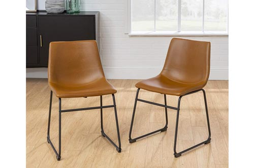10. Walker Edison Furniture Faux Leather Dining Chair