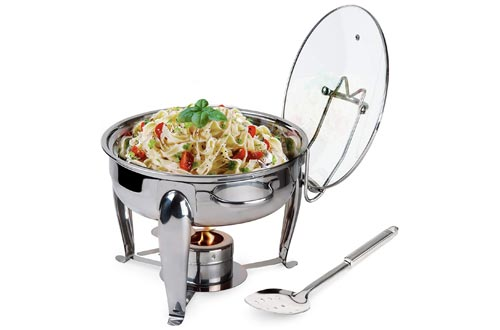 2. Traditions Round Stainless Steel Chafing Dish