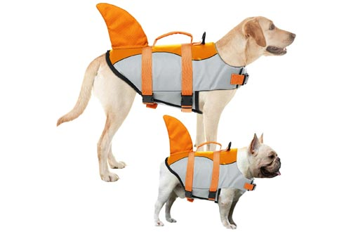 3. AOFITEE Adjustable Dog Life Jacket