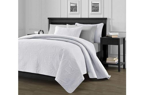 4. Chezmoi Collection Oversized Bedspread Coverlet Set