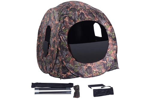 4. GYMAX Portable Pop Up Hunting Blind with Window