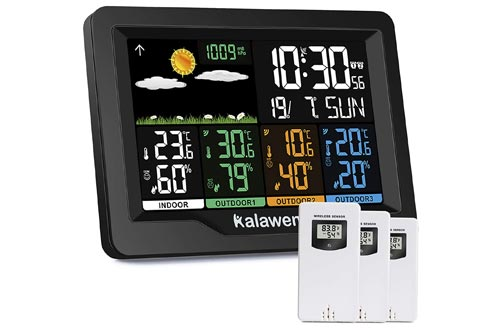 4. Kalawen Weather Station with Color LCD Display