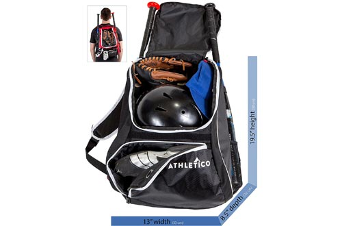 5. Athletico Baseball Bat Bag for Youth and Adults