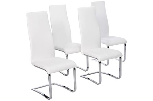 5. Coaster Home Furnishings Faux Leather Dining Chairs