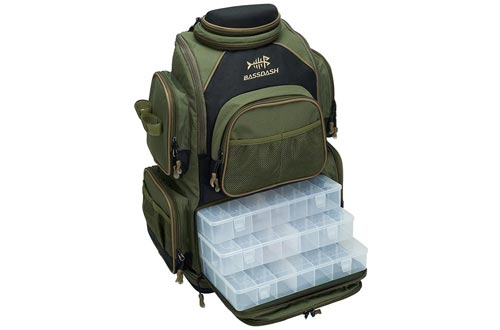 6. Bassdash Water Resistant Lightweight Fishing Tackle Backpack