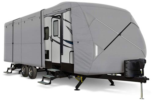 8. Leader Accessories Windproof Travel Trailer Cover