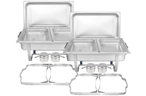 8. TigerChef Chafing Dish Stainless Steel Buffet Set