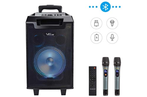 8. VeGue Portable Karaoke Machine with Woofer Bluetooth Speaker