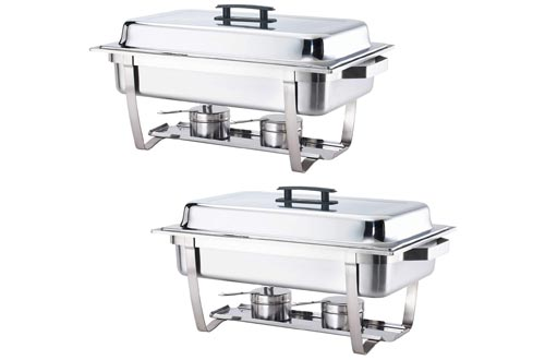 9. ALPHA LIVING Stainless Steel Chafer Set