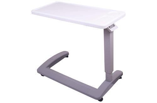 9. Carex Hospital Bed Table With Wheels