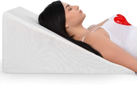 Bed Wedge Pillow With Memory Foam To