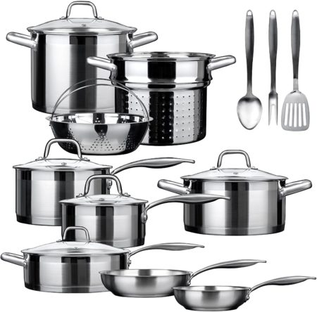 Duxtop Professional 17 Pieces Stainless Steel