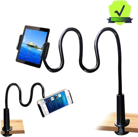 MAGIPEA Tablet Stand Holder, Mount Holder Clip with Grip