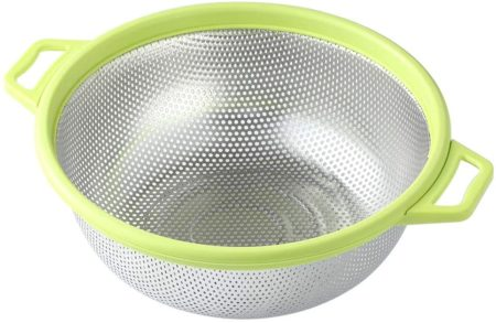 Stainless Steel Colander With Handle and Legs