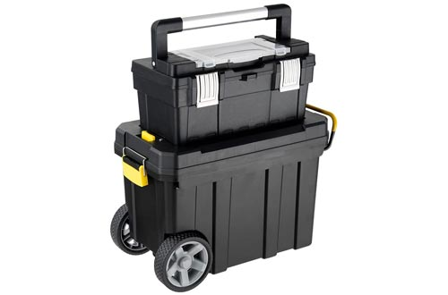 1. Goplus 2-in-1 Portable Rolling Toolbox