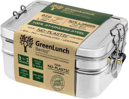 3-in-1 Stainless Steel Bento Box