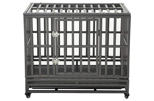 8. LUCKUP Heavy Duty Dog Crate
