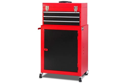 9. Giantex Mini Tool Chest & Cabinet Storage Tool Box