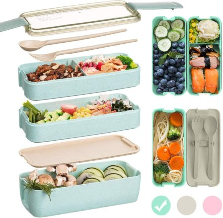 Edtsy Bento box for kids and adults with Dividers