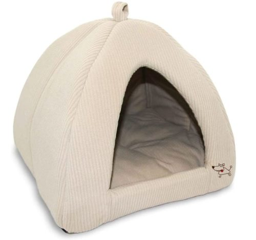 1. Best Pet Supplies Beautiful Little Cute Pet Tent with Soft and Cushiony Base - Very Good Small Tent Bed