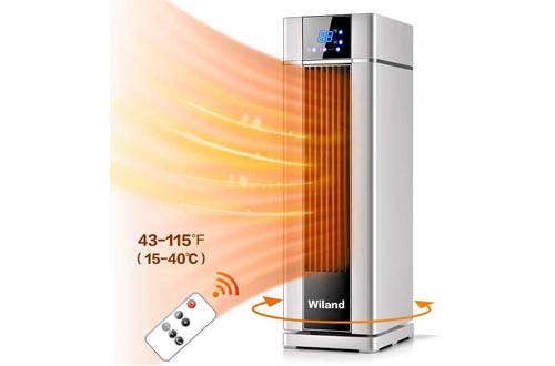 3. Wiland LCD Electric heater with Remote Control