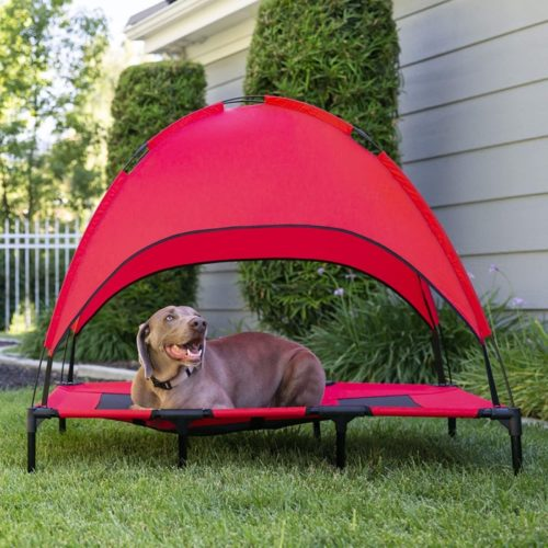 3.Best Choice Products Portable Soft and Cotton Pet Tent Bed with Removabel Canopy, Breathable Cat and Dog Tent