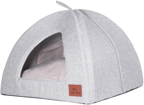 7. Miss Meow Removable Cushions and Portable Pet Tent for dogs and cats