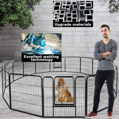 BestPet Pet Playpen Fence Extra Large Indoor and Outdoor Crate Cage Kennel Heavy Duty