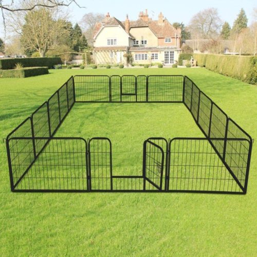 Go2Buy Heavy-Duty Foldable Metal Pet Playpen Fence Dog and Puppy Exercise Pen Playpen Barrier Kennel