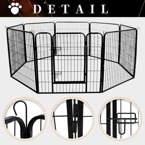 Meihua Heavy Duty Foldable Metal Pet Playpen Fence for Indoor and Outdoor