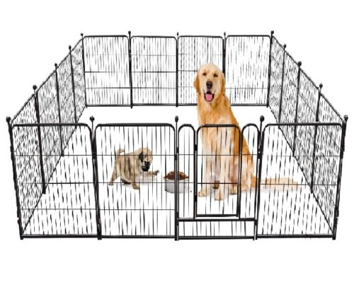 Tooca Height RV Exercise Metal Pet Playpen Fence with Foldable Barrier and Door