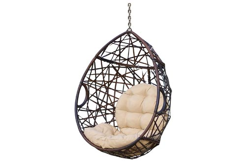1. Christopher Knight Home Tear Drop Hanging Chair