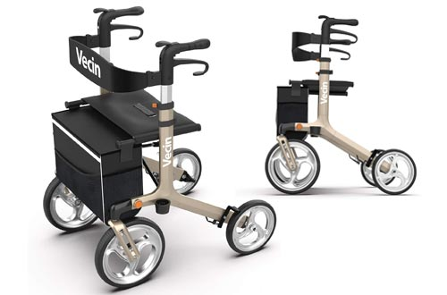1. Vecin Folding Rollator Walker with Seat