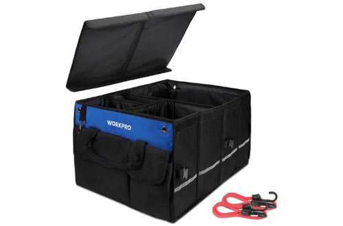 1. WORKPRO Car Trunk Organizer