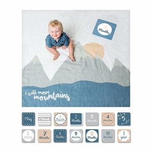 1. lulujo Baby First Year Milestone Blanket and Cards Set