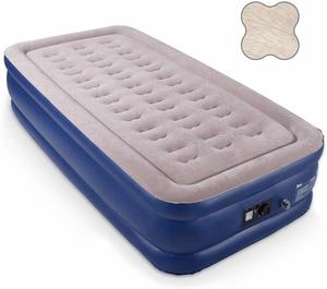 10. HIWENA Twin Air Mattress with Built-in Pump