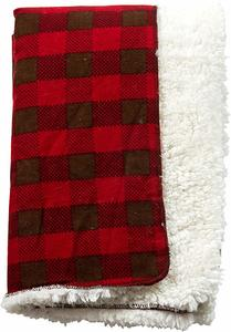 11. Trend Lab Northwoods Plush Receiving Blanket