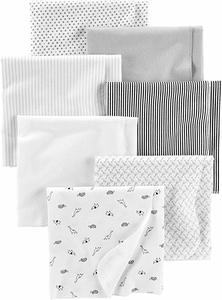 3. Simple Joys by Carter's Baby 7-Pack Flannel Receiving Blankets